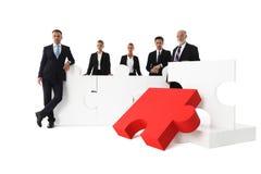 Επιχειρησιακή ομάδα και μεγάλος γρίφος Στοκ Εικόνες