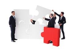 Επιχειρησιακή ομάδα και οκνηρός επιχειρηματίας Στοκ εικόνες με δικαίωμα ελεύθερης χρήσης