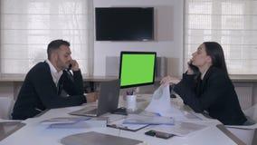 Επιχειρησιακή ομάδα στην εργασία απόθεμα βίντεο