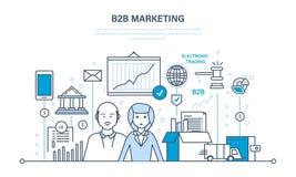 Επιχειρησιακή ομάδα που εργάζεται, ενδοεπιχειρησιακός, μάρκετινγκ, πωλήσεις, συναλλαγές, ηλεκτρονικές εμπορικές συναλλαγές απεικόνιση αποθεμάτων