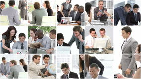 Επιχειρησιακή ομάδα που παρουσιάζει πνεύμα της ομαδικής εργασίας στην επιχείρηση φιλμ μικρού μήκους