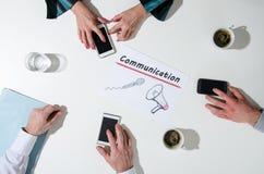 Επιχειρησιακή ομάδα σε μια συνεδρίαση που μιλά για την επικοινωνία Στοκ Φωτογραφίες