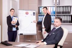 Επιχειρησιακή ομάδα σε μια συνεδρίαση στην αρχή Στοκ φωτογραφία με δικαίωμα ελεύθερης χρήσης