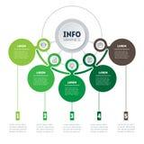 Επιχειρησιακή παρουσίαση Infographic ή οικολογίας με 5 επιλογές Ιστός απεικόνιση αποθεμάτων