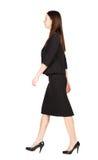 επιχειρησιακή περπατώντας γυναίκα υποστηρίξτε την όψη Στοκ Εικόνα