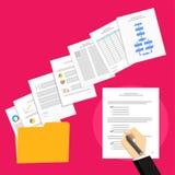 Επιχειρησιακή πρόταση και επιχειρησιακή συμφωνία Το επιχειρησιακό πρόσωπο υπογράφει μια συμφωνία Στοκ Εικόνες