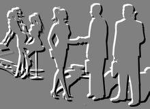 επιχειρησιακή σκιαγραφί Στοκ Εικόνα