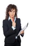 επιχειρησιακή σοβαρή γυναίκα στοκ εικόνες