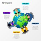 Επιχειρησιακή συνεδρίαση άποψης επιτραπέζιων κορυφών infographic έννοια Στοκ φωτογραφία με δικαίωμα ελεύθερης χρήσης