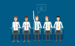 Επιχειρησιακή συνεδρίαση και υποστηρίξτε απομονωμένη την ομάδα όψη ανθρώπων Επιχειρησιακή σκέψη ελεύθερη απεικόνιση δικαιώματος