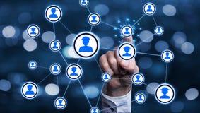 Επιχειρησιακή σύνδεση και δίκτυο Στοκ Εικόνες
