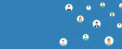 Επιχειρησιακή σύνδεση ανθρώπων στο κοινωνικό δίκτυο on-line ελεύθερη απεικόνιση δικαιώματος