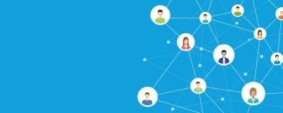 Επιχειρησιακή σύνδεση στην κοινωνική έννοια δικτύων ελεύθερη απεικόνιση δικαιώματος