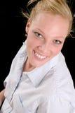 επιχειρησιακή χαμογελώντας γυναίκα Στοκ φωτογραφία με δικαίωμα ελεύθερης χρήσης
