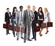 επιχειρησιακή businesspeople διαμορφωμένη ομάδα Στοκ Εικόνες