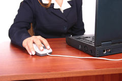 επιχειρησιακή desk1 γυναίκα στοκ εικόνα με δικαίωμα ελεύθερης χρήσης