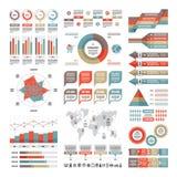 Επιχειρησιακή infographic έννοια - διανυσματικό σύνολο infographic στοιχείων στο επίπεδο σχέδιο Στοκ Εικόνα