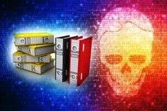 Επιχειρησιακοί αρχεία και φάκελλοι στο ψηφιακό υπόβαθρο διανυσματική απεικόνιση
