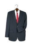Επιχειρησιακοί σακάκι, πουκάμισο και δεσμός στην ξύλινη κρεμάστρα -  Στοκ Εικόνα