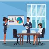 Επιχειρησιακοί συνάδελφοι στο γραφείο απεικόνιση αποθεμάτων
