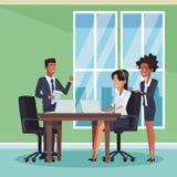 Επιχειρησιακοί συνάδελφοι στο γραφείο ελεύθερη απεικόνιση δικαιώματος
