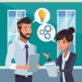 Επιχειρησιακοί συνάδελφοι στο γραφείο διανυσματική απεικόνιση