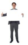 επιχειρησιακός κενός δείχνοντας επαγγελματίας πινάκων διαφημίσεων Στοκ Εικόνες