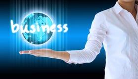 Επιχειρησιακός κόσμος εκμετάλλευσης επιχειρηματιών Στοκ Εικόνες
