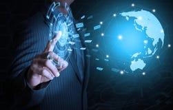 Επιχειρησιακός κόσμος Τύπου επιχειρηματιών Στοκ εικόνα με δικαίωμα ελεύθερης χρήσης