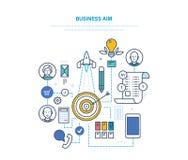 Επιχειρησιακός στόχος Θέτοντας στόχοι και το επίτευγμά τους, επιχειρησιακός προγραμματισμός, στρατηγική ελεύθερη απεικόνιση δικαιώματος