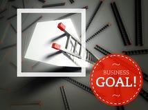 Επιχειρησιακός στόχος και κορυφή της σκάλας, έννοια επιτυχίας απεικόνιση αποθεμάτων