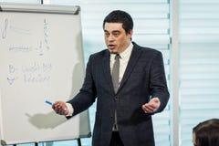 Επιχειρησιακός σύμβουλος, προϊστάμενος που αναλύει τους οικονομικούς αριθμούς, επιχείρηση Peopl Στοκ φωτογραφίες με δικαίωμα ελεύθερης χρήσης