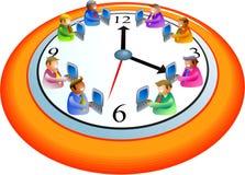 επιχειρησιακός χρόνος διανυσματική απεικόνιση
