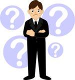 Επιχειρησιακό άτομο με το ερωτηματικό Στοκ εικόνα με δικαίωμα ελεύθερης χρήσης