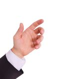 Επιχειρησιακό άτομο με το κενό χέρι Στοκ φωτογραφίες με δικαίωμα ελεύθερης χρήσης