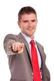 Επιχειρησιακό άτομο που δείχνει σε σας Στοκ φωτογραφία με δικαίωμα ελεύθερης χρήσης