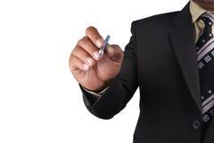 Επιχειρησιακό άτομο που δείχνει το δάχτυλο σε σας που απομονώνεστε στο άσπρο backgr Στοκ εικόνα με δικαίωμα ελεύθερης χρήσης