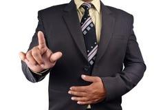 Επιχειρησιακό άτομο που δείχνει το δάχτυλο σε σας που απομονώνεστε στο άσπρο backgr Στοκ εικόνες με δικαίωμα ελεύθερης χρήσης