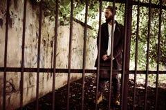 Επιχειρησιακό άτομο στη φυλακή Στοκ Φωτογραφία