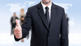 Επιχειρησιακό άτομο Anonymus που παρουσιάζει όπως Στοκ Εικόνα