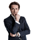 επιχειρησιακό αρσενικό πρότυπο κοστούμι Στοκ Εικόνα