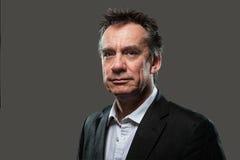 επιχειρησιακό γκρίζο όμορφο επικεφαλής καλυμμένο άτομο κοστούμι Στοκ εικόνες με δικαίωμα ελεύθερης χρήσης