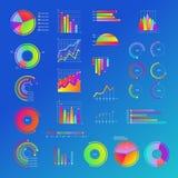 Επιχειρησιακό διάγραμμα, διάγραμμα με τις γραφικές παραστάσεις καθορισμένες Παρουσιάσεις, μάρκετινγκ Διανυσματική απεικόνιση