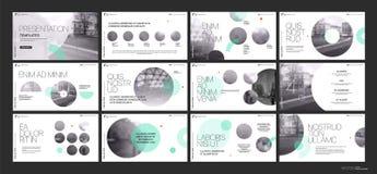 Επιχειρησιακό διάνυσμα παρουσίασης Template Πράσινα γεωμετρικά στοιχεία για τις παρουσιάσεις φωτογραφικών διαφανειών για ένα άσπρ Στοκ Εικόνες