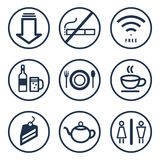 Επιχειρησιακό εικονίδιο τροφίμων και ποτών Στοκ Φωτογραφίες