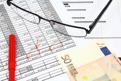 επιχειρησιακό ευρώ Στοκ Εικόνες