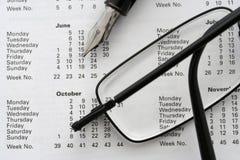 επιχειρησιακό ημερολόγ&iot Στοκ φωτογραφία με δικαίωμα ελεύθερης χρήσης