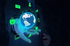 Επιχειρησιακό διάγραμμα εκμετάλλευσης χεριών επιχειρηματιών Στοκ εικόνες με δικαίωμα ελεύθερης χρήσης