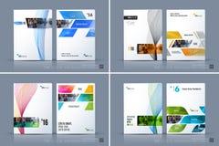 Επιχειρησιακό διανυσματικό πρότυπο Το σχεδιάγραμμα φυλλάδιων, καλύπτει το σύγχρονο σχέδιο α διανυσματική απεικόνιση