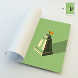 A4 επιχειρησιακό κενό μόνιμες ταμπλέτες σειράς ηγετών έννοιας Πύργος τρισδιάστατος Στοκ Εικόνες